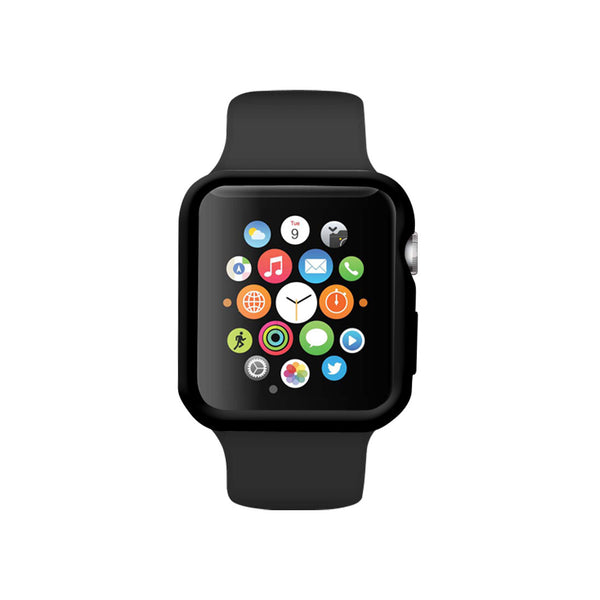 Black Ultra Slim Soft Silicon Snap On Case for Apple Watch / Apple Watch Sport ( 42mm / 38mm)