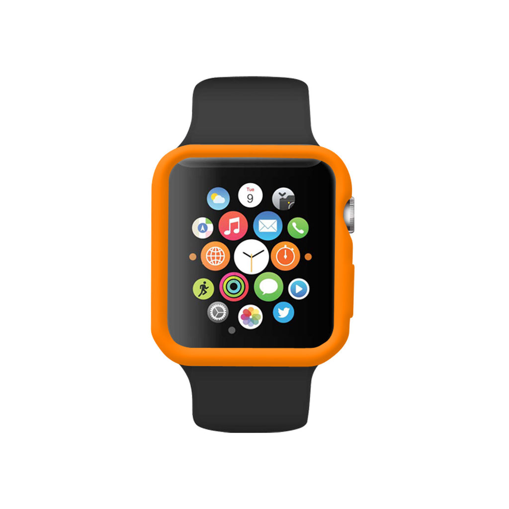 Orange Ultra Slim Soft Silicon Snap On Case for Apple Watch / Apple Watch Sport ( 42mm / 38mm)