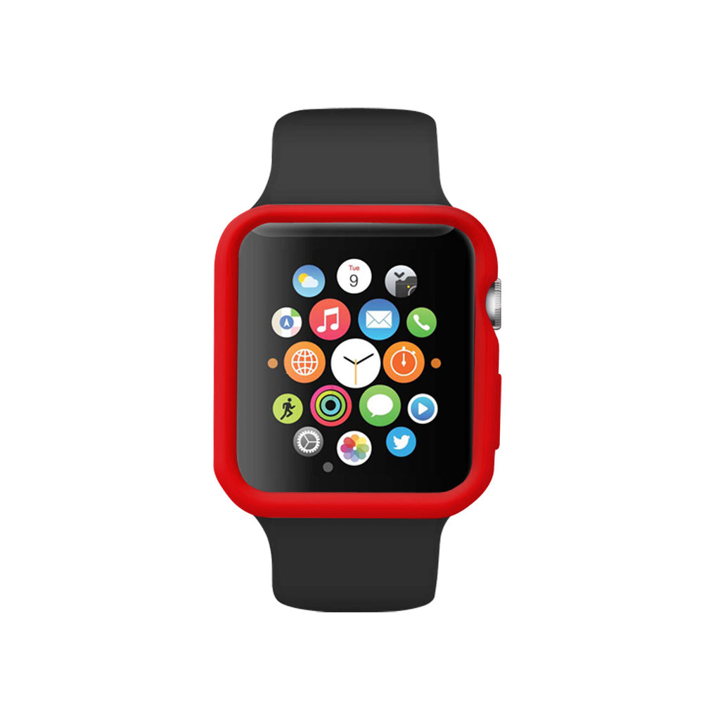 Red Ultra Slim Soft Silicon Snap On Case for Apple Watch / Apple Watch Sport ( 42mm / 38mm)