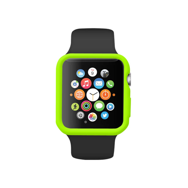Green Ultra Slim Soft Silicon Snap On Case for Apple Watch / Apple Watch Sport ( 42mm / 38mm)