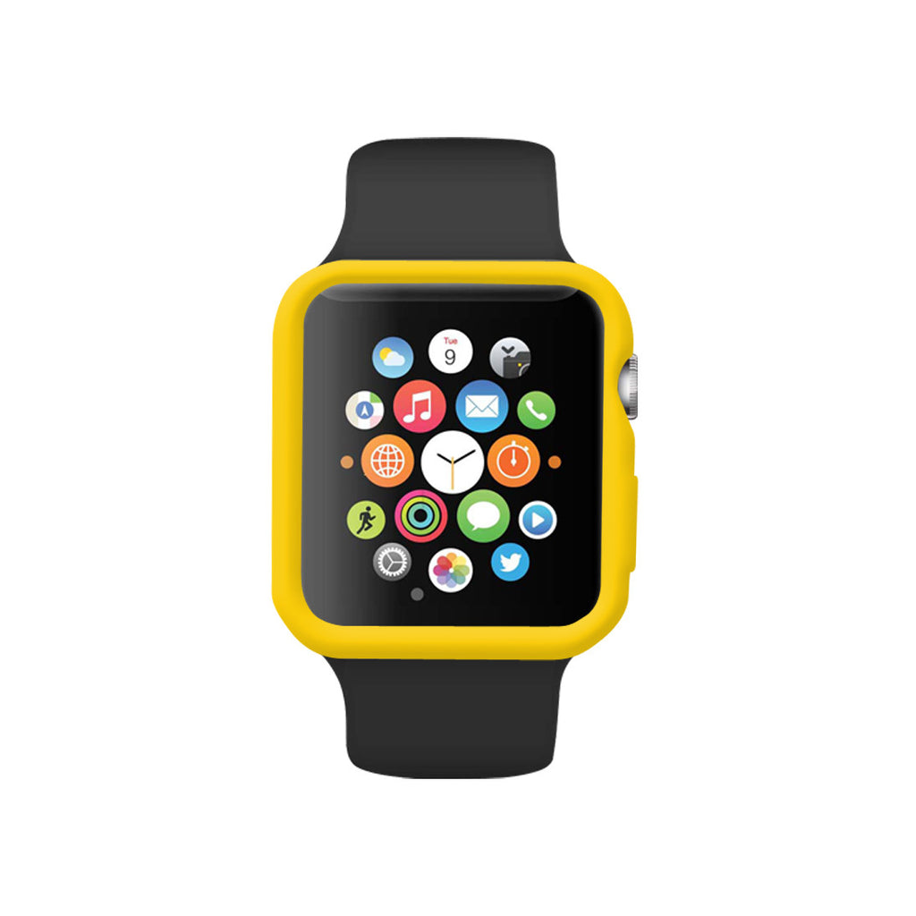 Yellow Ultra Slim Soft Silicon Snap On Case for Apple Watch / Apple Watch Sport ( 42mm / 38mm)