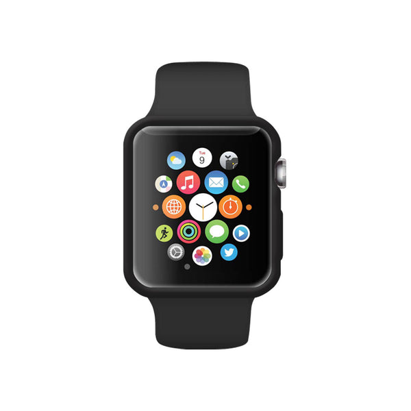 Matte Black Ultra Slim Soft Silicon Snap On Case for Apple Watch / Apple Watch Sport ( 42mm / 38mm)