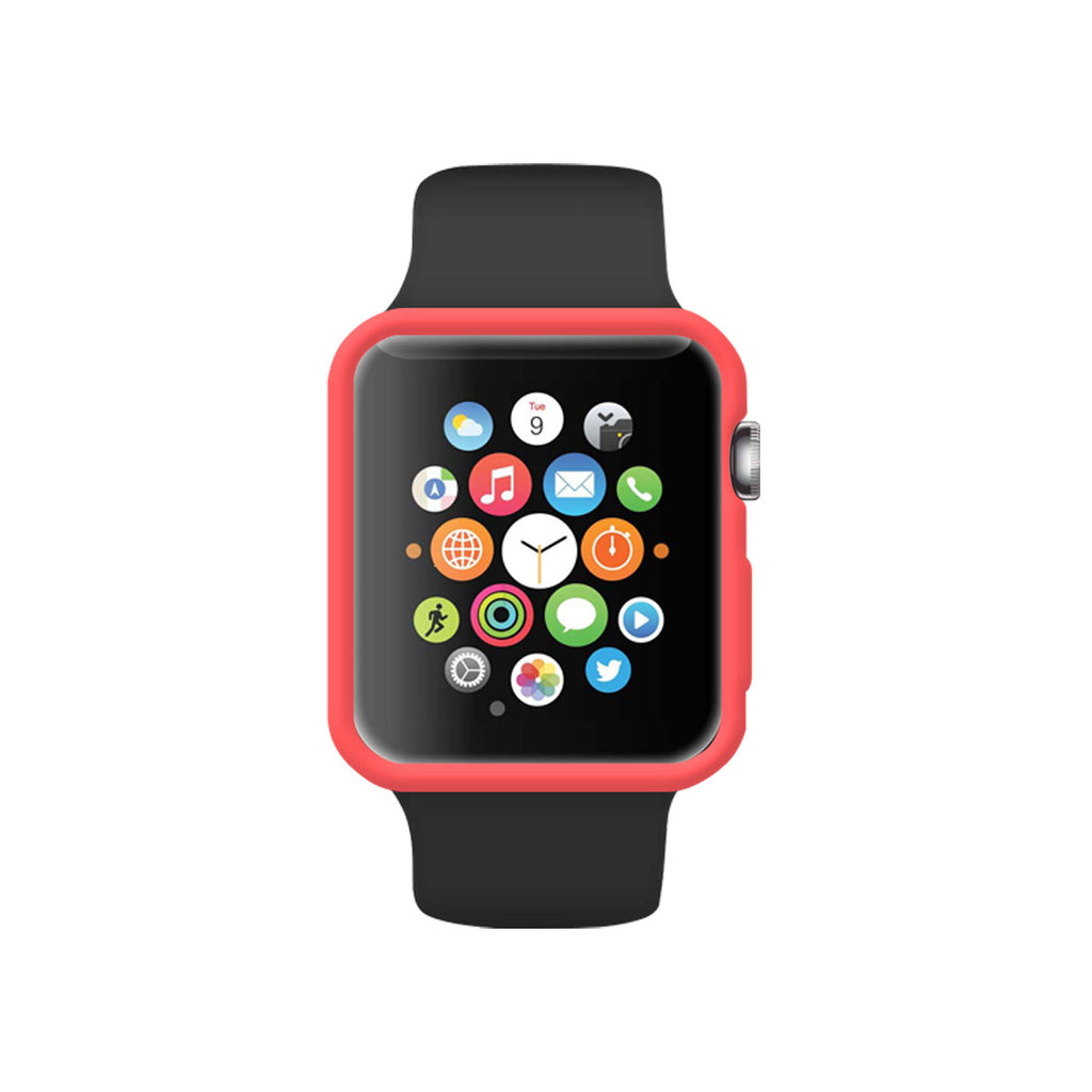 Matte Pink Ultra Slim Soft Silicon Snap On Case for Apple Watch / Apple Watch Sport ( 42mm / 38mm)