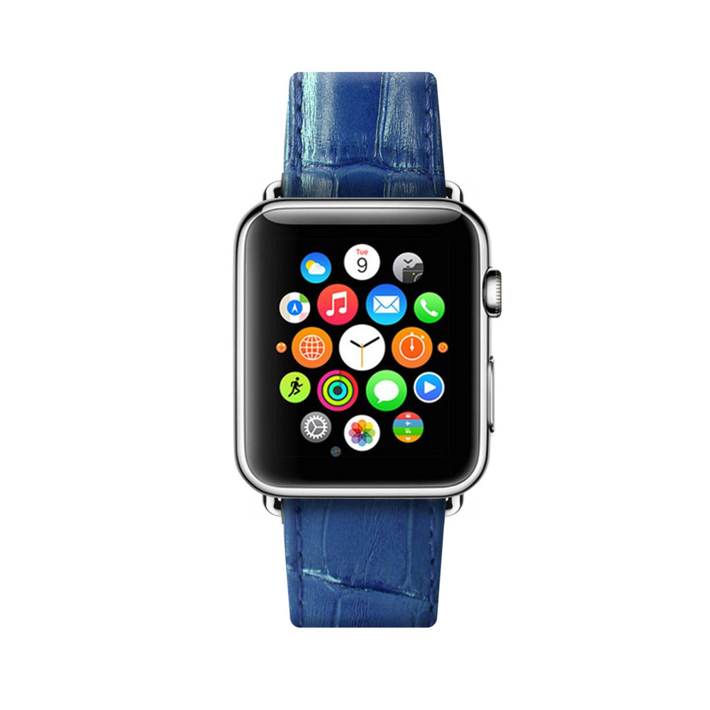 Royal Blue Apple Watch Leather Strap Band  38mm / 40mm  , 42mm / 44mm