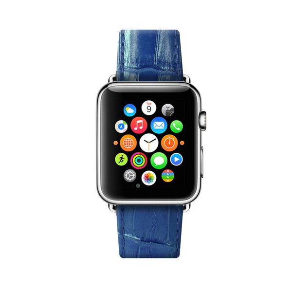 Royal Blue Apple Watch Leather Strap Band 38 mm 42 mm