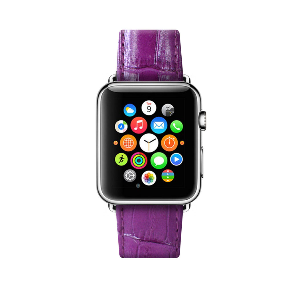 Purple Apple Watch Leather Strap Band 38 mm 42 mm