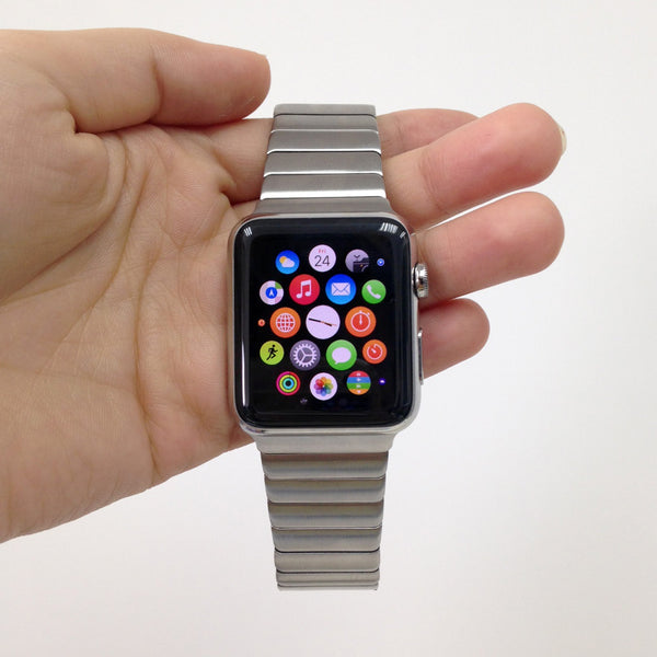 Sliver Link Bracelet Stainless Steel Strap Band Bracelet for Apple Watch / Apple Watch Sport / Apple Watch Edition at Ultra-case.com