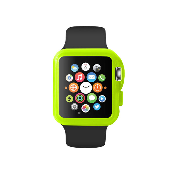Transparent Green Ultra Slim Soft TPU Snap On Case for Apple Watch / Apple Watch Sport ( 42mm / 38mm)