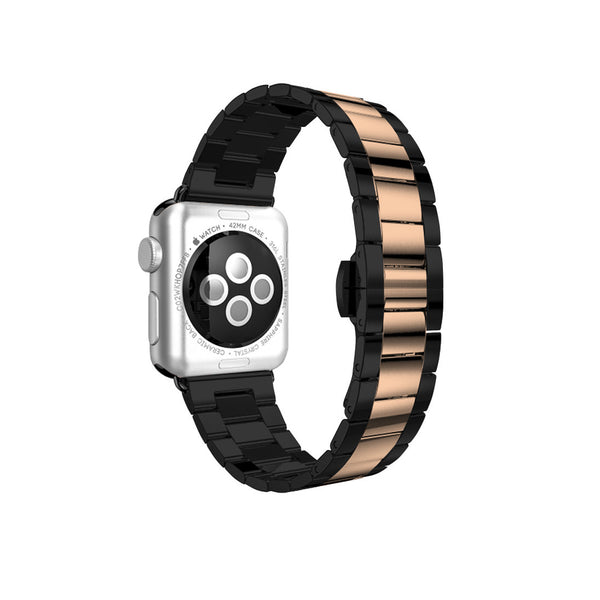 Space Grey with Rose Gold Stainless Steel Strap Band Bracelet for Apple Watch / Apple Watch Sport / Apple Watch Edition at Ultra-case.com