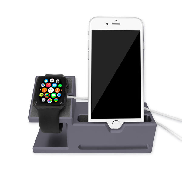 Aluminium Dock Station for iPhone and Apple Watch - Space Grey