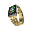 Stainless Steel Strap Classic Adapter Buckle Watch Bands - Gold