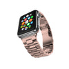 Stainless Steel Strap Classic Adapter Buckle Watch Bands - Rose Gold