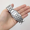 Stainless Steel Strap Classic Adapter Buckle Watch Bands - Silver