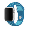 Blue / Light Blue Perforated Sport Band compatible for Apple Watch / Apple Watch Sport ( 38mm / 40mm  , 42mm / 44mm )