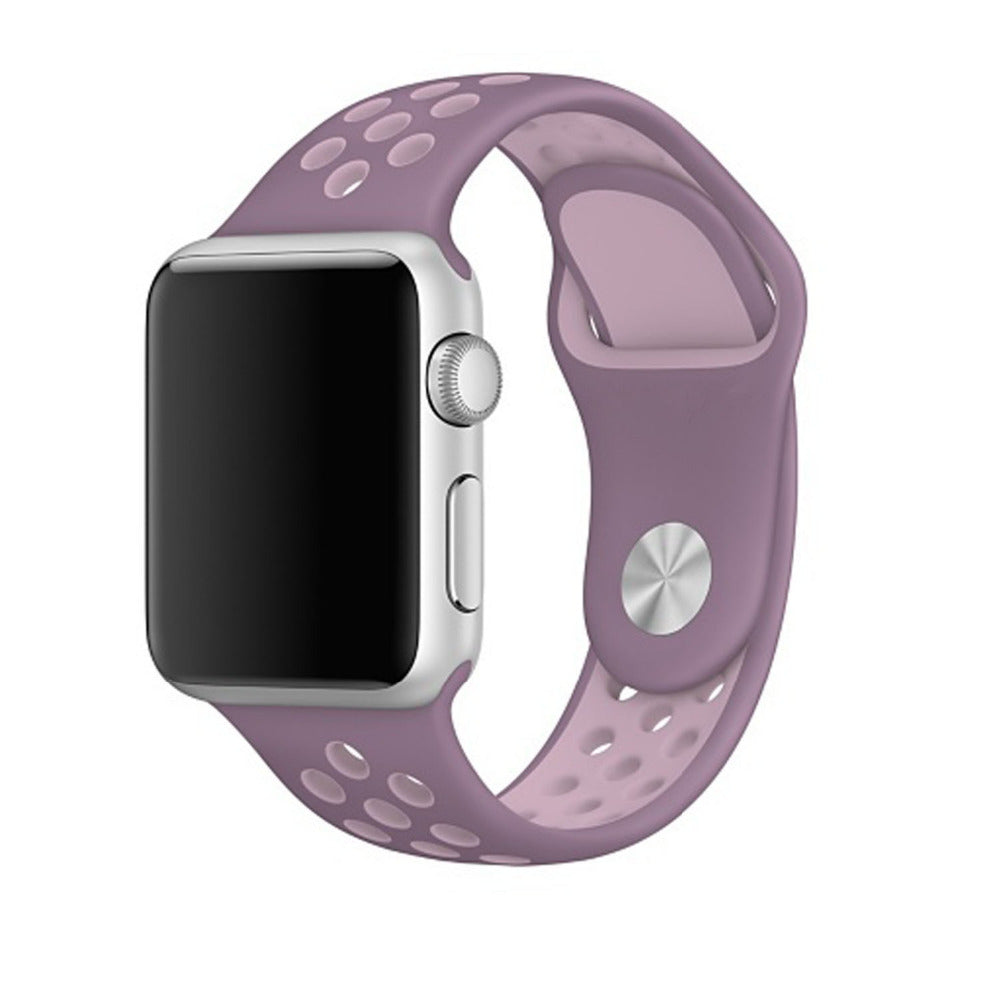 Purple / Pink Perforated Sport Band compatible for Apple Watch / Apple Watch Sport ( 38 mm , 42 mm )