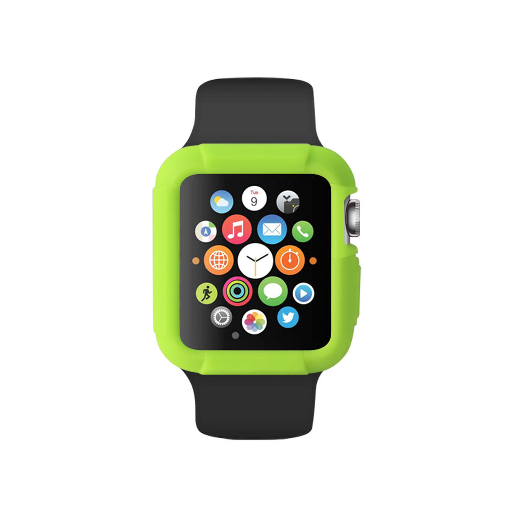 Green Ultra Bumper Soft Silicon Snap On Case for Apple Watch / Apple Watch Sport ( 42mm / 38mm)