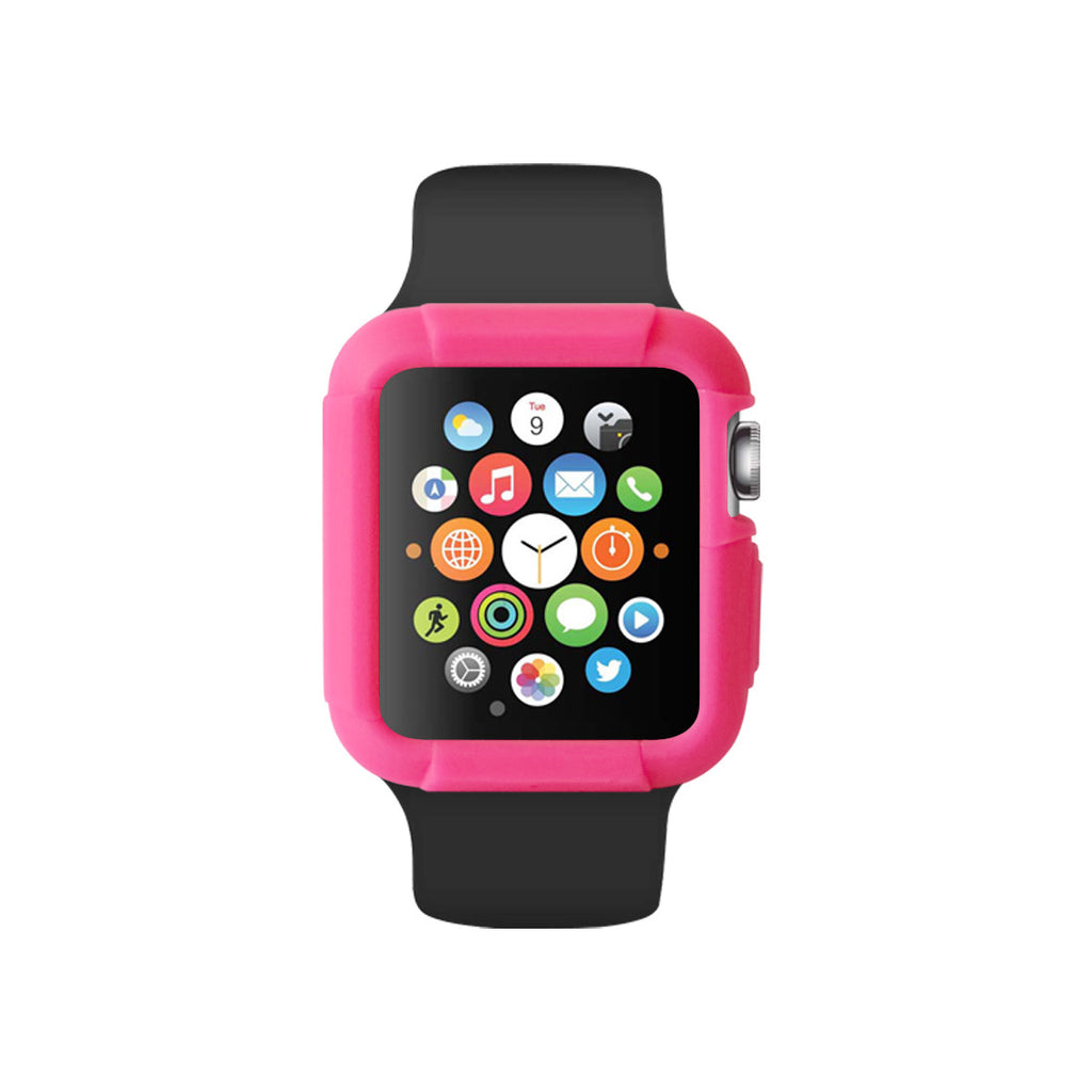 Pink Ultra Bumper Soft Silicon Snap On Case for Apple Watch / Apple Watch Sport ( 42mm / 38mm)