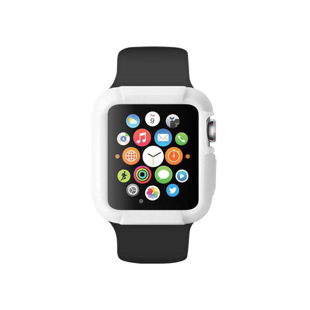White Ultra Bumper Soft Silicon Snap On Case for Apple Watch / Apple Watch Sport ( 42mm / 38mm)