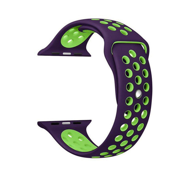 Purple / Green Perforated Sport Band compatible for Apple Watch / Apple Watch Sport ( 38 mm , 42 mm )
