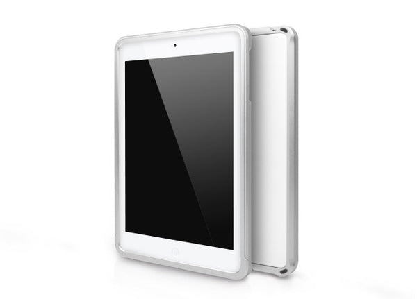 Metallic Bumper Series for iPad mini Case - Silver
