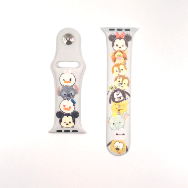 Authentic Disneyland Disney Tsum Tsum gray 42mm Apple Watch Band