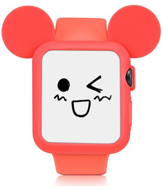 Red Cute Cartoon Mouse Ears Soft Silicone Protective Case for Apple Watch / Apple Watch Sport ( 42mm / 38mm)