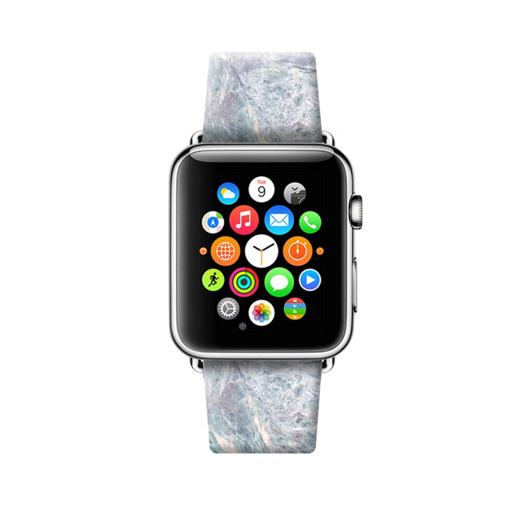 Custom Apple Watch Strap Faux Grey Marble 38 mm 42 mm