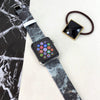Custom Apple Watch Strap Faux Charcoal Marble 38 mm 42 mm