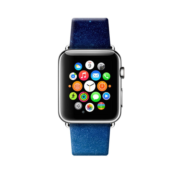 Custom Apple Watch Strap Glittering Night Sky 38 mm 42 mm