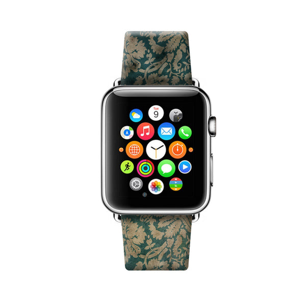 Custom Apple Watch Strap Vintage Floral Pattern  38mm / 40mm  , 42mm / 44mm