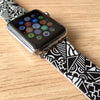 Custom Apple Watch Strap Art Patch Work pattern 38 mm 42 mm