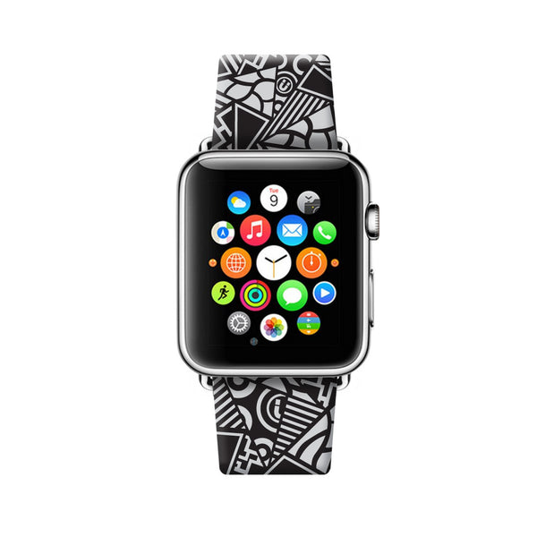 Custom Apple Watch Strap Art Patch Work pattern  38mm / 40mm  , 42mm / 44mm