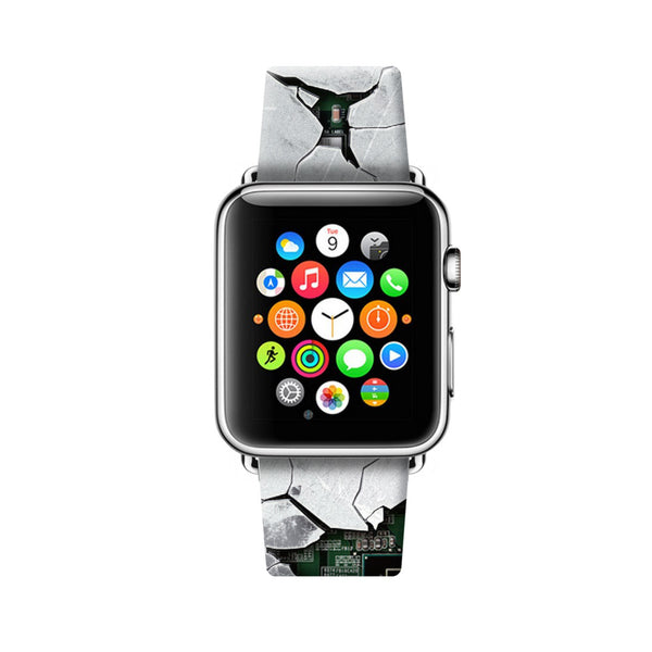 Custom Apple Watch Strap Art Break White 38 mm 42 mm