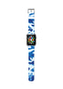 Custom Apple Watch Strap Camouflage Blue pattern  38mm / 40mm  , 42mm / 44mm