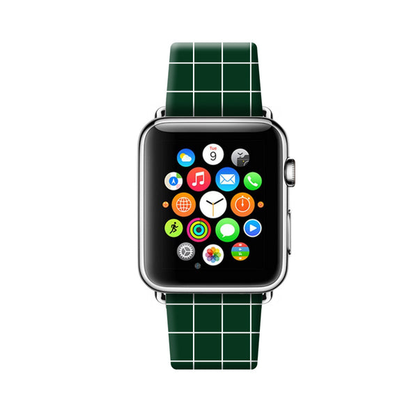 Custom Apple Watch Strap Green Checker pattern  38mm / 40mm  , 42mm / 44mm