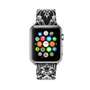 Custom Apple Watch Strap Floral Damask Black White Pattern 38 mm 42 mm