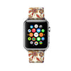 Art Floral White Pattern Apple Watch Strap Band 38 42 mm | Ultra-case.com