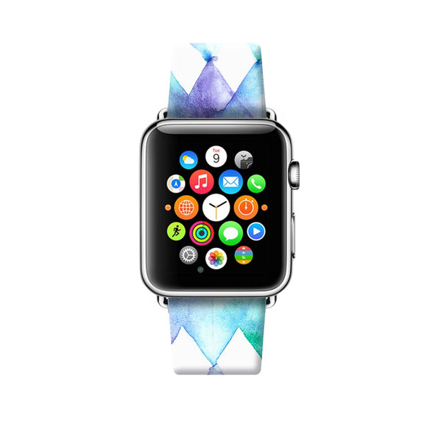 Custom Apple Watch Strap Art Water Brush Geometric  38mm / 40mm  , 42mm / 44mm