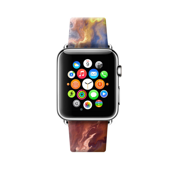 Custom Apple Watch Strap Abstract Art Oil Painting 38 mm 42 mm