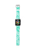 Custom Apple Watch Strap Color Pen Drawing Turqouise 38 mm 42 mm