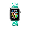 Custom Apple Watch Strap Color Pen Drawing Turqouise  38mm / 40mm  , 42mm / 44mm