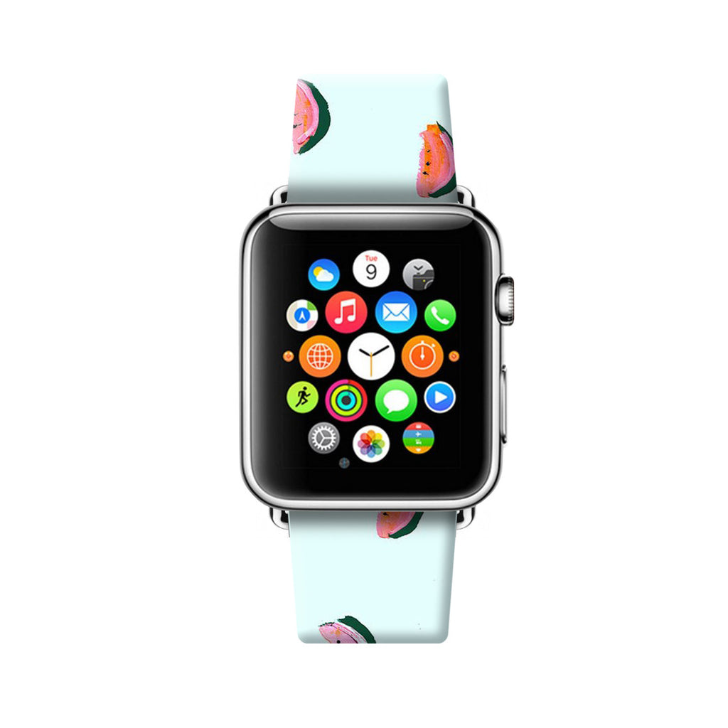 Custom Apple Watch Strap Watermelon light blue pattern 38 mm 42 mm