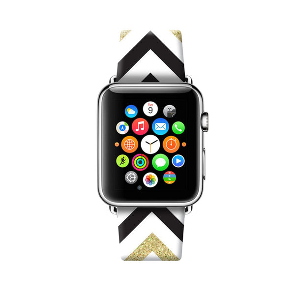 Custom Apple Watch Strap Chevron Pattern  38mm / 40mm  , 42mm / 44mm