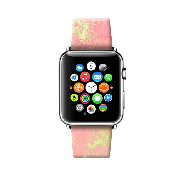 Custom Apple Watch Strap Abstract Pink 38 mm 42 mm Ultra-case.com