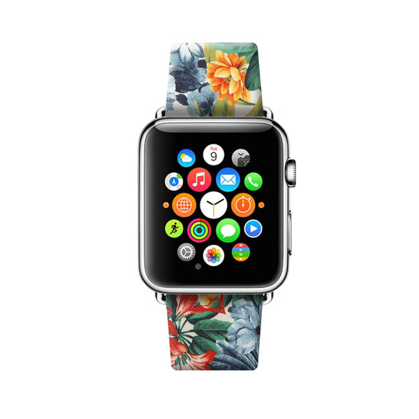 Colorful Floral Pattern Apple Watch Strap Band 38mm / 40mm  , 42mm / 44mm | Ultra-case.com