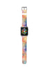 Custom Apple Watch Strap Colorful Dots and Lines Geometric pattern  38mm / 40mm  , 42mm / 44mm