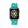 Custom Apple Watch Strap Turquoise Polka Dots pattern 38 mm 42 mm