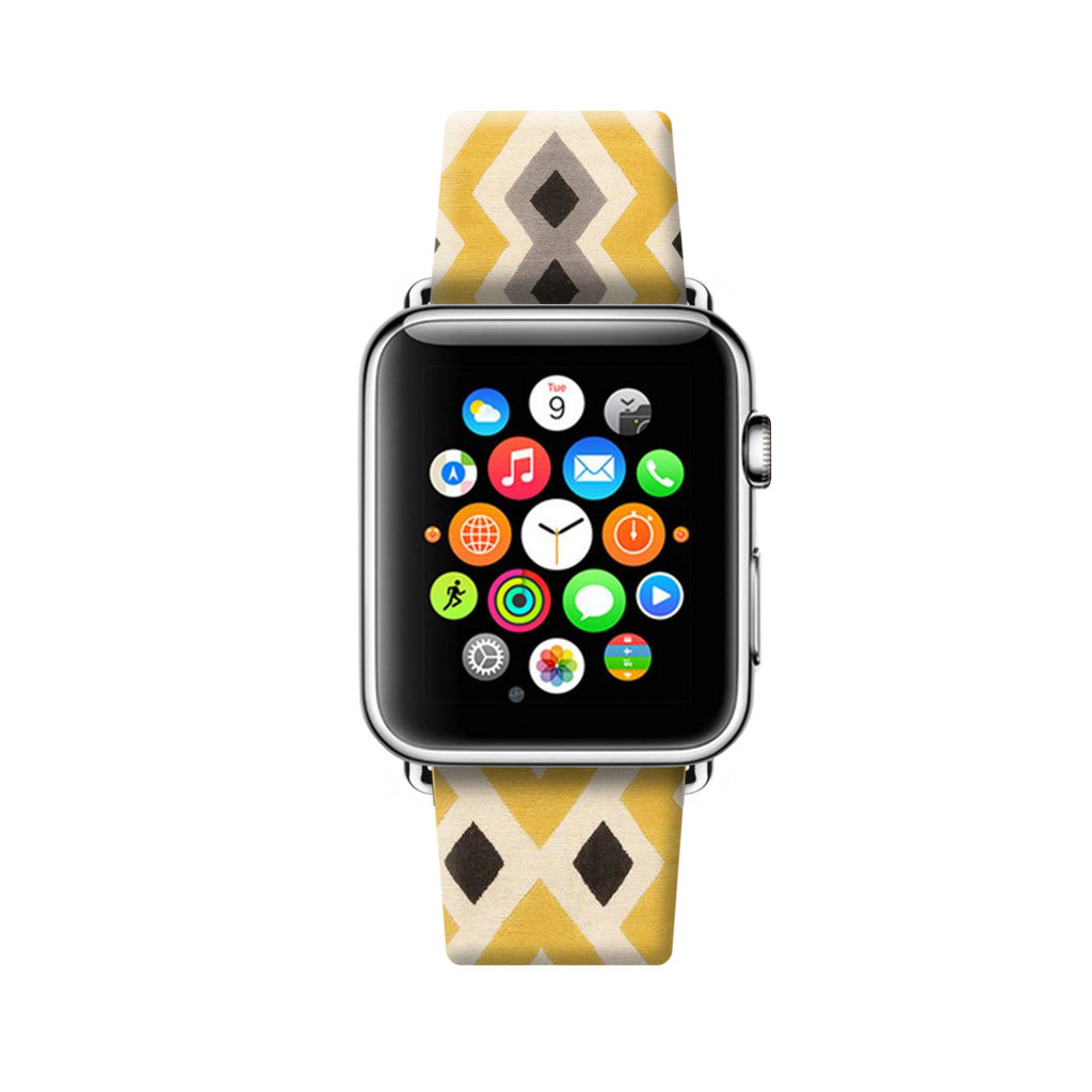Custom Apple Watch Strap Vintage Tribal pattern 38 mm 42 mm