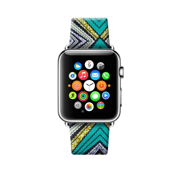 Custom Apple Watch Strap Vintage Navajo Tribal pattern 38 mm 42 mm