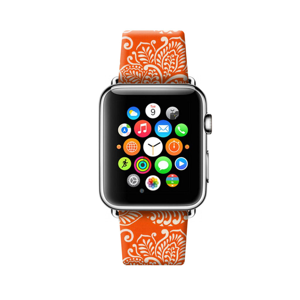 Orange Hawaii Flowers Apple Watch Strap Band 38mm / 40mm  , 42mm / 44mm | Ultra-case.com